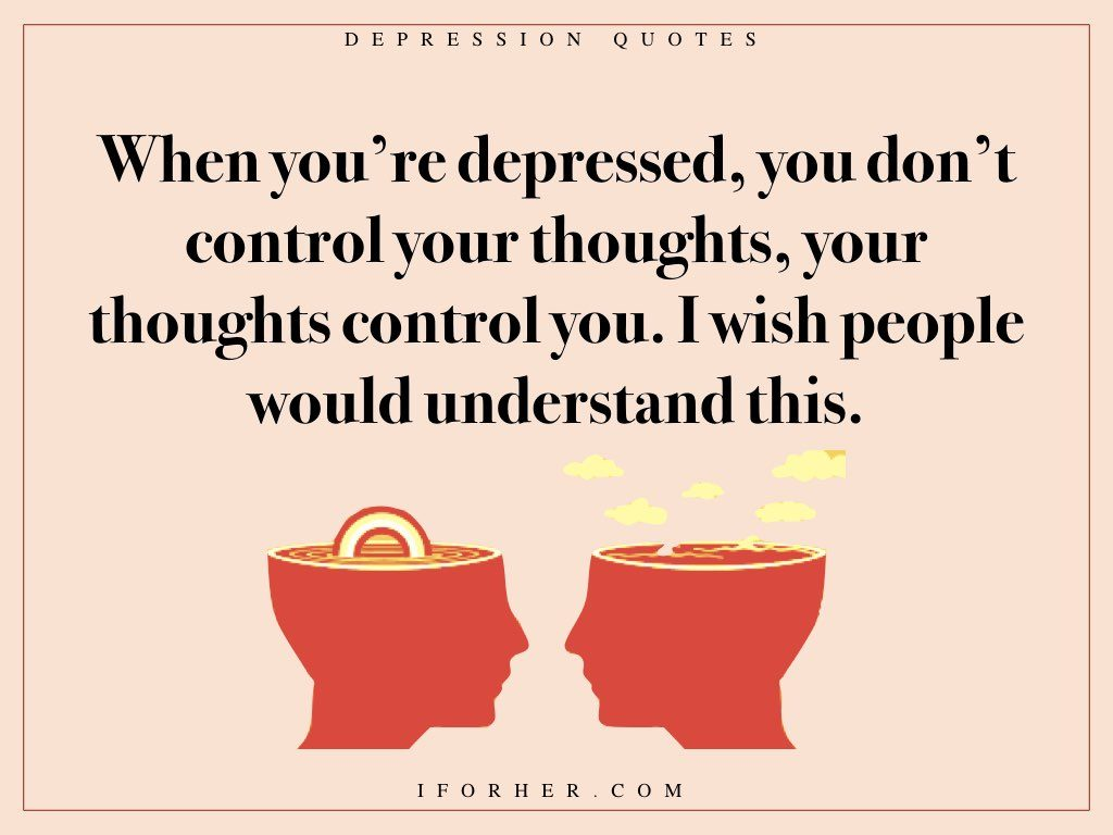 quotes on depression that shows what people battling depression