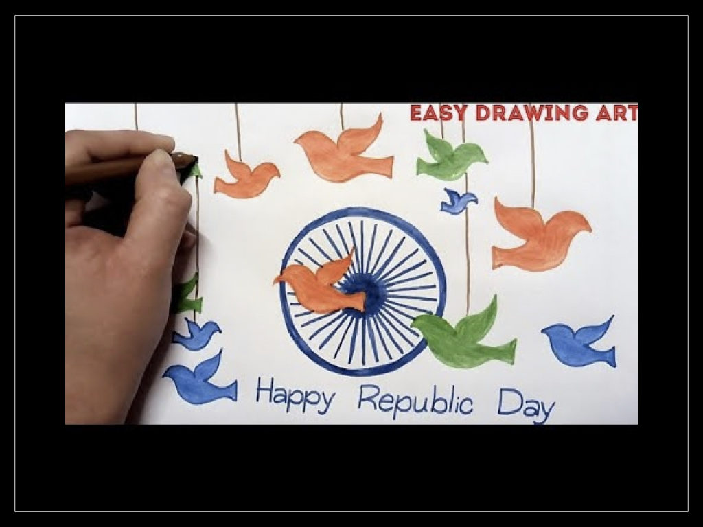24 Easy & Simple Republic Day Drawings For Kids