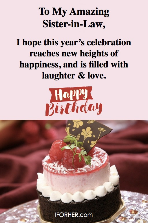 Best Sister In Law Birthday Wishes Messages Images