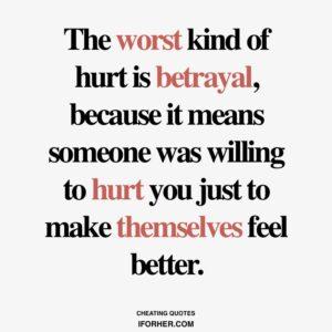 Husband by on betrayal 13 Steps
