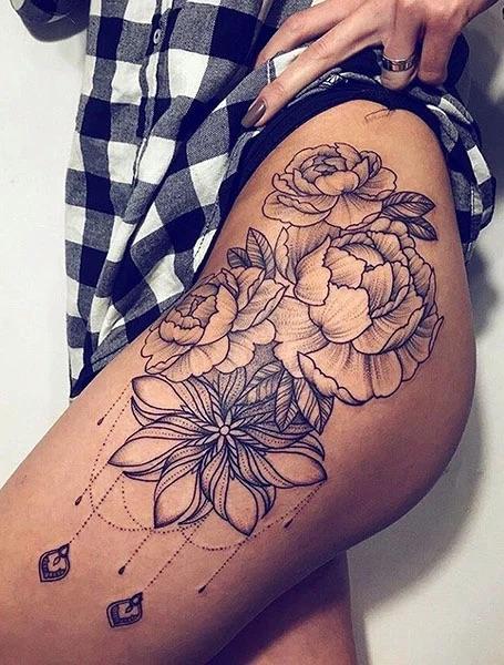 Thigh-design-tatoo