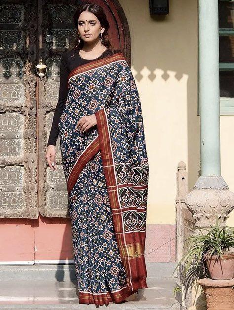 Patola-Saree-Types-Indian-Saree