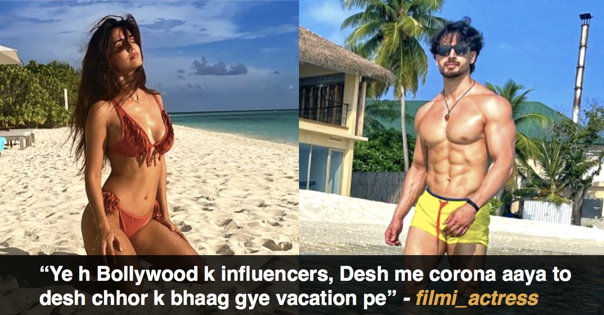 Celebs trolled for posting vacay pics
