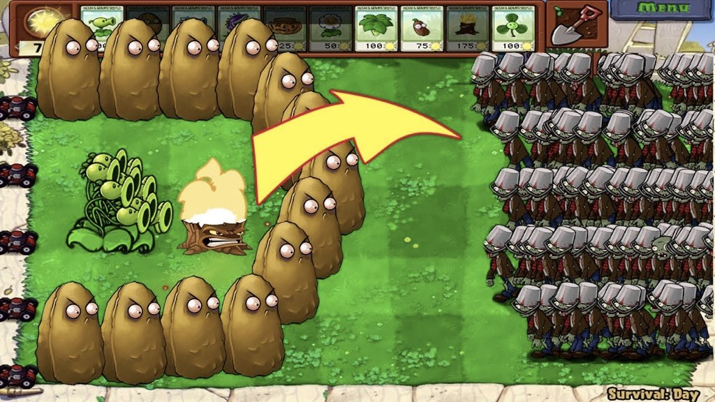 Plants-Vs-Zombies-Time-Pass-Mobile-Phone-Games